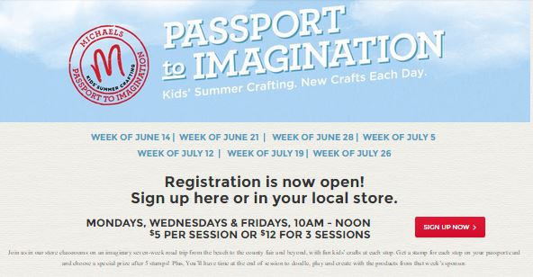 Michael's Passport to Imagination Cheap Summer Craft Classes