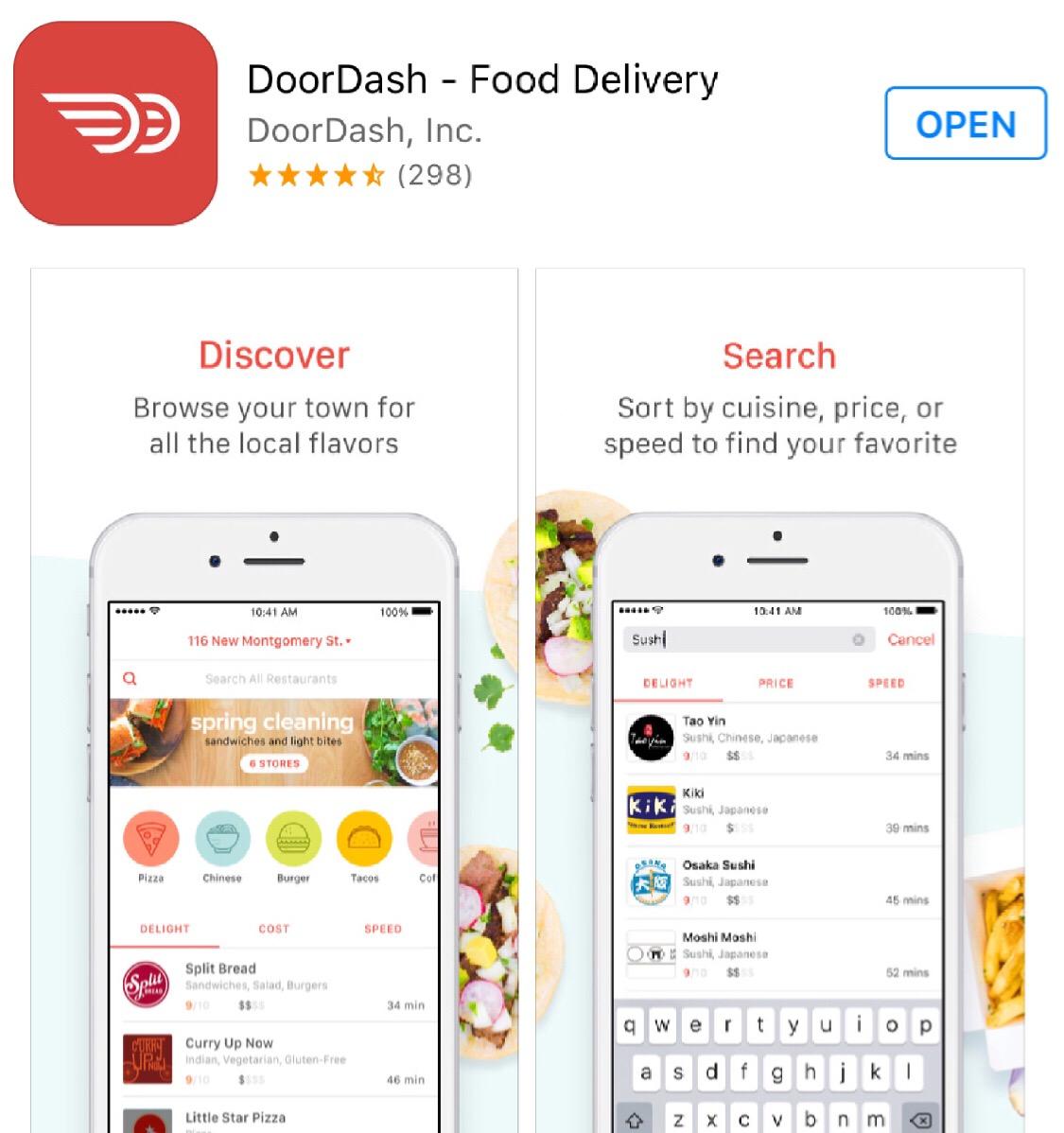 DoorDash Restaurant Delivery Service App & Website