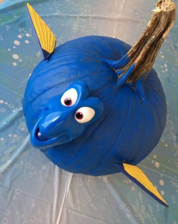 Finding Dory No carve Pumpkin touristmom.com
